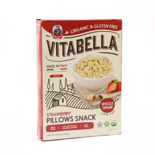 فيتابلا - رقائق الفراولة العضوية الخالية من الجلوتين على شكل وسادة 300 جم