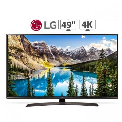 إل جي – تلفزيون ذكي UHD 4K قياس 49 بوصة – أسود - يتم التوصيل بواسطة ABDULAZIZ SAOUD ALBABTAIN AND SONS COMPANY FOR ELETRICAL AND ELECTRONICS