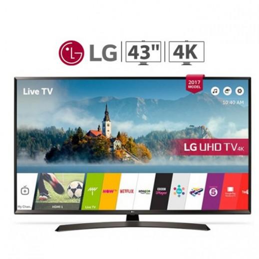 """ال جي – تليفزيون ذكي 43"""" مسطح UHD 4K - يتم التوصيل بواسطة Al Babtain Electronics Company"""