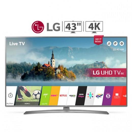 """إل جي – تليفزيون ذكي 43"""" UHD 4K LED - يتم التوصيل بواسطة Al Babtain Electronics Company"""