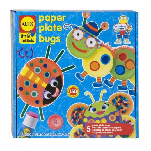 أليكس – بانلاين لعبة عمل حشرات على طبق ورقي