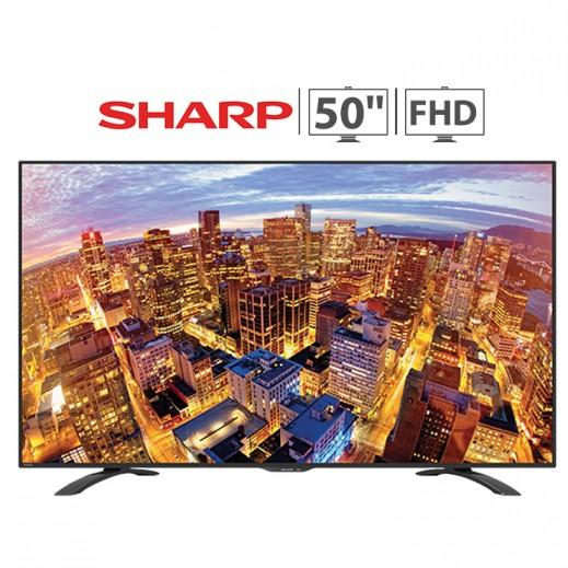 شارب – تلفزيون Aquos شاشة 50 بوصة LED Full HD – أسود - يتم التوصيل بواسطة  AL-YOUSIFI CO.