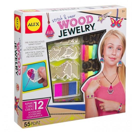 أليكس – لعبة حقيبة إكسسوارات المجوهرات الخشبية الملونة