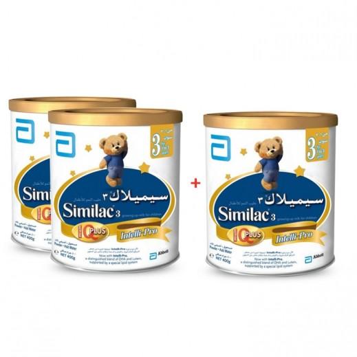 سيميلاك – طعام للأطفال أي كيو بلس 400 جم مرحلة 3 (1- 3 أعوام) - 2+1 مجاناً
