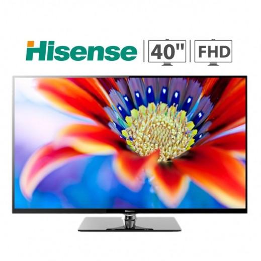 هايسنس تلفزيون 40 بوصة FULL HD LED مع مجانا قاعدة للحائط موديل (LEDN40K20DP)