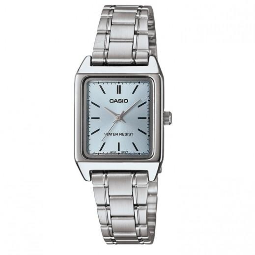 كاسيو- ساعة يد للسيدات عقارب مستطيلة استانلس استيل   - يتم التوصيل بواسطة Veerup General Trading