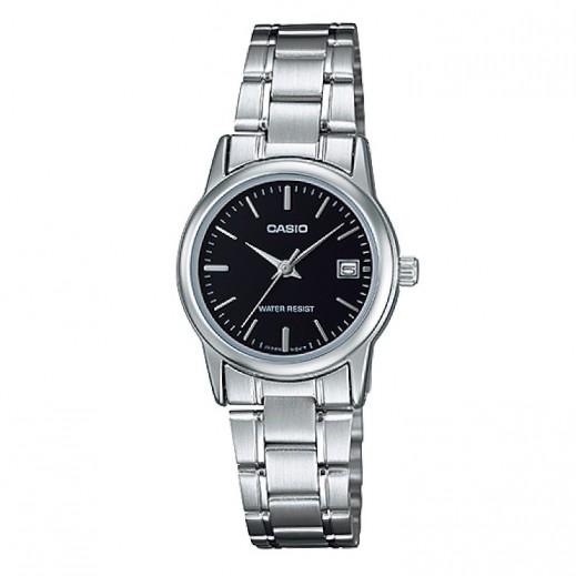 كاسيو- ساعة يد لكلا الجنسين عقارب استانلس استيل  - يتم التوصيل بواسطة Veerup General Trading