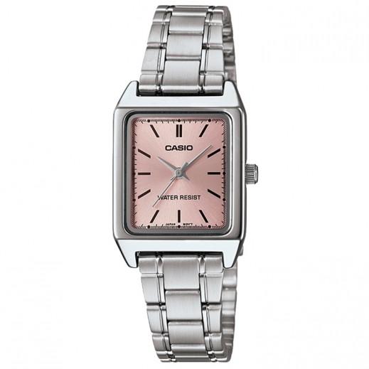 كاسيو- ساعة يد بيزنس للسيدات عقارب استانلس استيل  - يتم التوصيل بواسطة Veerup General Trading