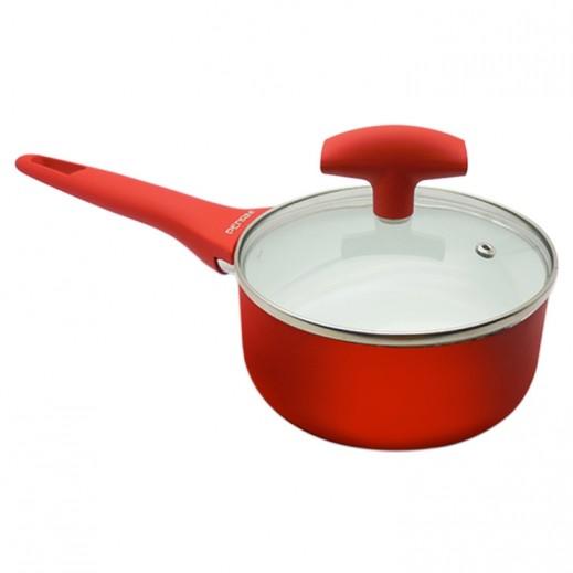 بيدريني – وعاء طبخ سيراميك غير لاصق بغطاء 16 سم