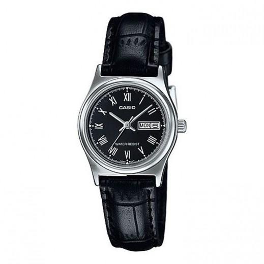 كاسيو- ساعة يد بيزنس للسيدات عقارب حزام جلد اسود - يتم التوصيل بواسطة Veerup General Trading