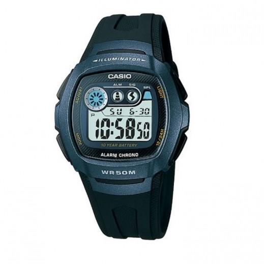 كاسيو- ساعة يد رجال شبابي رقمية بقرص رمادي  - يتم التوصيل بواسطة Veerup General Trading