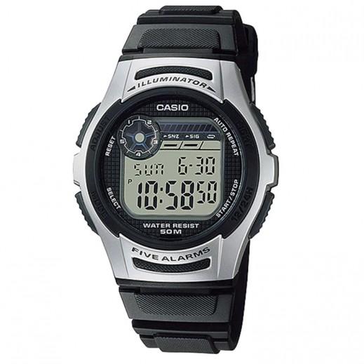 كاسيو- ساعة يد رجال رقمية حزام سيليكون وقرص رمادي  - يتم التوصيل بواسطة Veerup General Trading