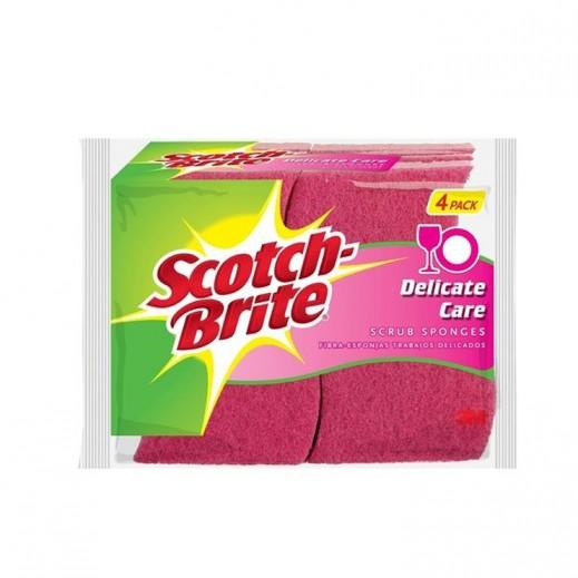 سكوتش برايت - اسفنجة احتكاك للمهام الخفيفة 6 حبة