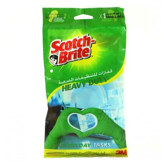 سكوتش برايت - قفازات المهام الثقيلة برائحة الليمون مقاس صغير