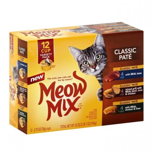 ميو ميكس – طعام القطط الكلاسيكية (عبوة منوّعة) 936 جم