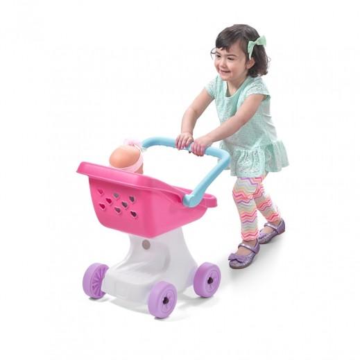 ستيب 2 – عربة دمية الأطفال لوف أند كير – وردى - يتم التوصيل بواسطة شهاليل بعد 3 أيام عمل