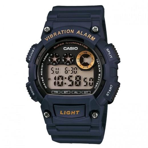 كاسيو- ساعة يد رجال شبابي رقمية بقرص أسود   - يتم التوصيل بواسطة Veerup General Trading