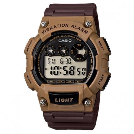 كاسيو- ساعة يد رياضية رجال رقمية بمنبه هزّاز - بني  - يتم التوصيل بواسطة Veerup General Trading