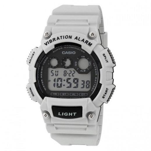 كاسيو- ساعة يد رياضية رجال رقمية بمنبه هزّاز - رمادي فاتح  - يتم التوصيل بواسطة Veerup General Trading