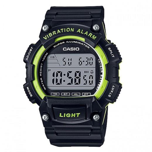 كاسيو- ساعة يد رجال شبابي رقمية قرص أسود  - يتم التوصيل بواسطة Veerup General Trading