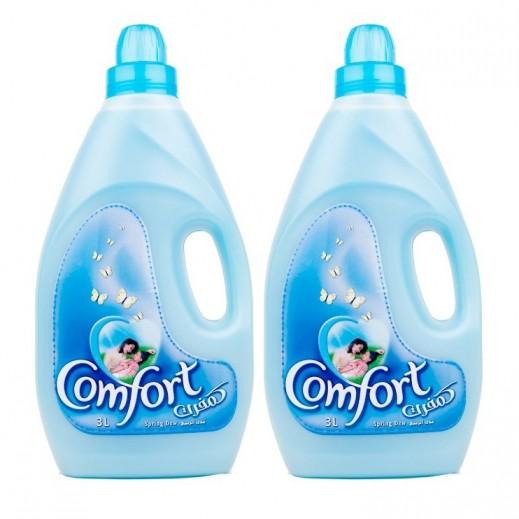 كومفورت – منعم الأقمشة الأزرق ندى الربيع 3 لتر (2 حبة)
