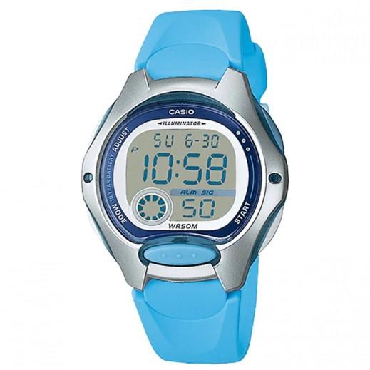 كاسيو- ساعة يد رقمية استاندارد أزرق فاتح للأطفال   - يتم التوصيل بواسطة Veerup General Trading