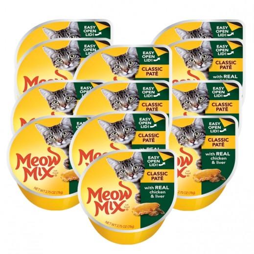 ميو ميكس – طعام القطط - وجبة دجاج مع الكبد 12×78 جم - أسعار الجملة
