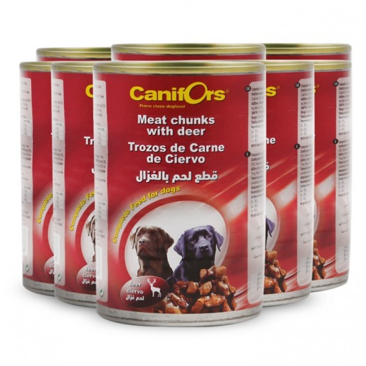 كانفورس – طعام الكلاب مع قطع لحم الغزال 8×410 جم