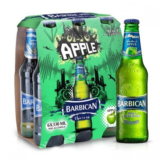 بربيكان - مشروب شعير بنكهة التفاح 330 مل ( 6 حبة )
