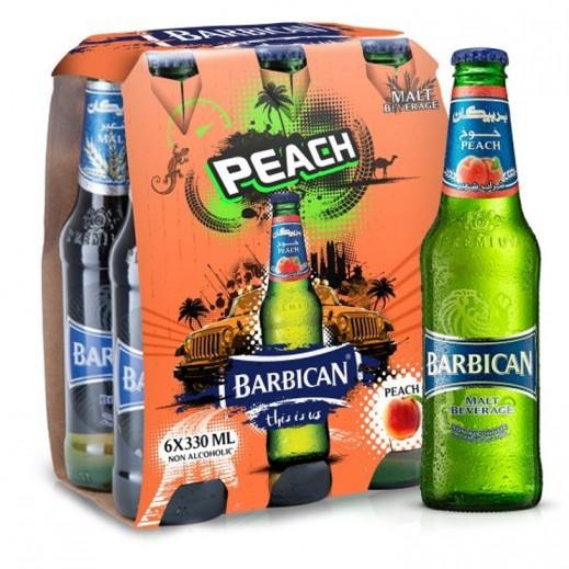 بربيكان - مشروب شعير بنكهة الخوخ 330 مل ( 6 حبة )