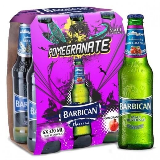 بربيكان - مشروب شعير بنكهة الرمان 330 مل ( 6 حبة )