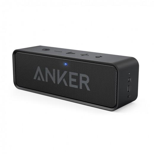 """أنكر – سماعة لاسلكية """"ساوند كور"""" – أسود"""