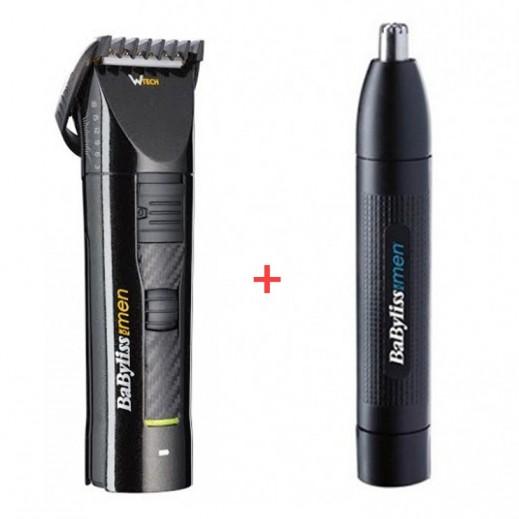 بابيليس – ماكينة حلاقة قابلة للشحن BABE750SDE + آلة حلاقة شعر الأنف والأذن BABE650SDE