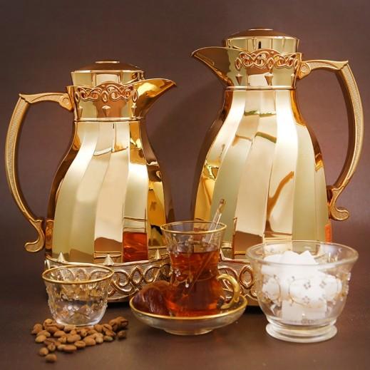 """ايه اس سي – 2 مطارة """" أمياس """" للشاي والقهوة - ذهبي"""