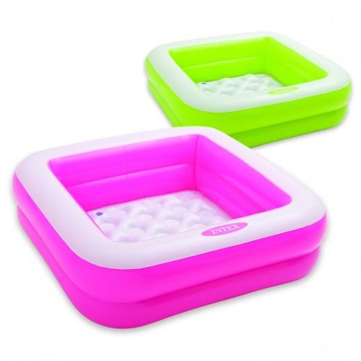 إنتكس – حمام سباحة للأطفال علي شكل صندوق 33× 33 × 9 سم