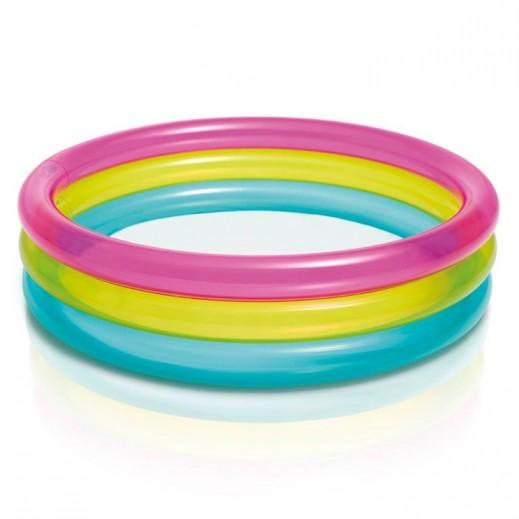 إنتكس – حمام سباحة دائري لون قوس قزح  86 × 25 سم