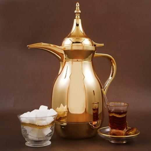 ألجو – دلة القهوة العربية 1 لتر – ذهبي