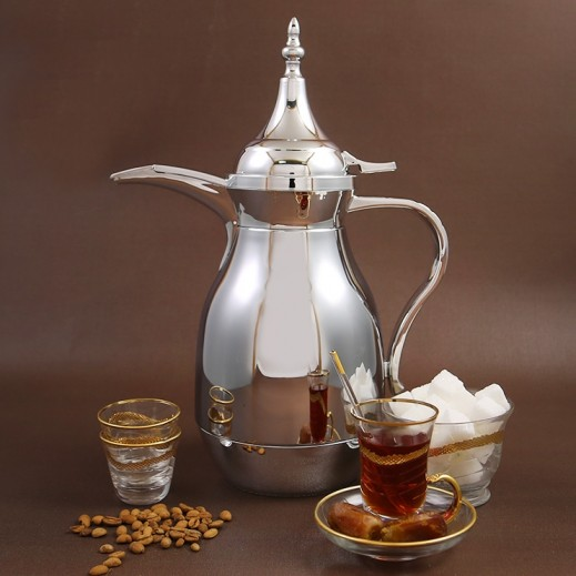 ألجو – دلة القهوة العربية 1 لتر – فضي