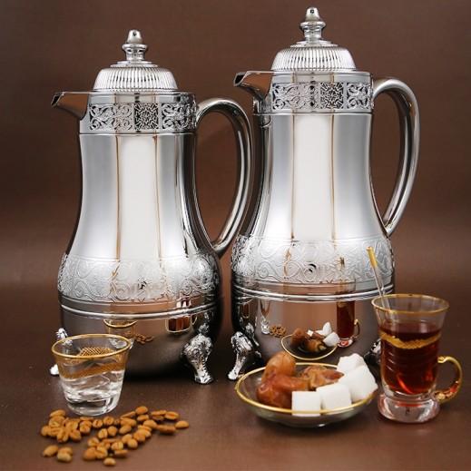 ايه اس سي – 2 مطارة  للشاي والقهوة - فضي