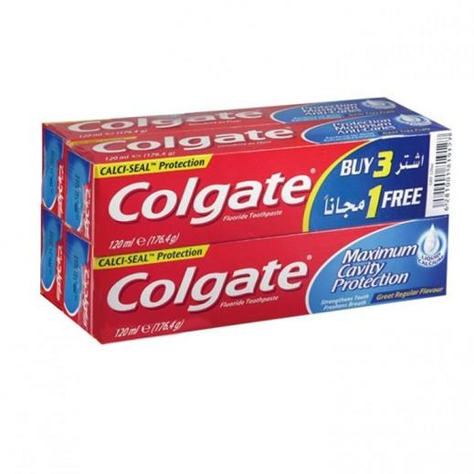 كولجيت – معجون أسنان لحماية الكلسيات 120 مل (3+1 مجاناً)