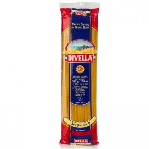 ديفيلا – معكرونة سباغيتي رقم 9 500 جم