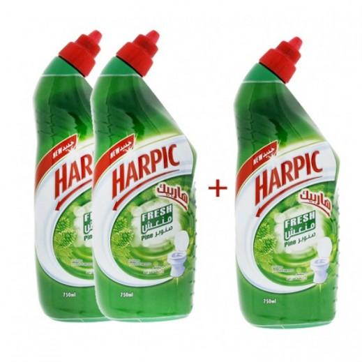 هاربيك – منظف الحمام برائحة صنوبر 3x500 مل ( 2+1 مجاناً)