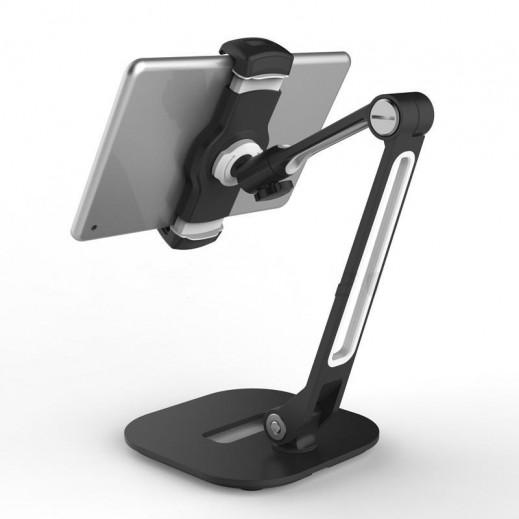 ليدي تيك – حامل 360° مع قاعدة عريضة للهواتف الذكية والتابلت – أسود
