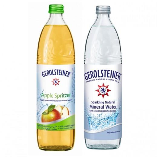 Gerolsteiner Apple Spritzer 750 ml + Gerolsteiner Sparkling Water 750 ml (Bundle)