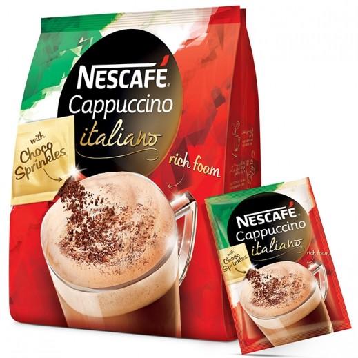نسكافيه – كابيتشينو إيطاليانو مع رشة شوكولاتة – 20 كيس × 19.3 جم