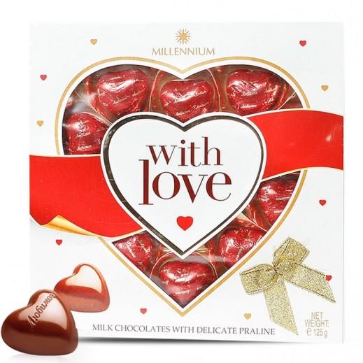 ميلينيوم - شوكولاتة قلوب بالحليب 125 جم