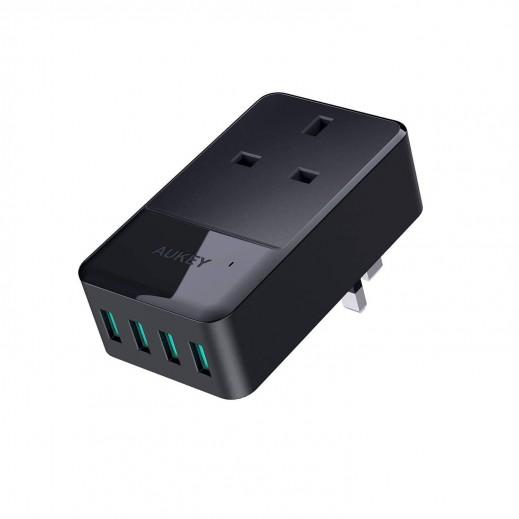 Aukey Power Hub 4 USB Ports - Black