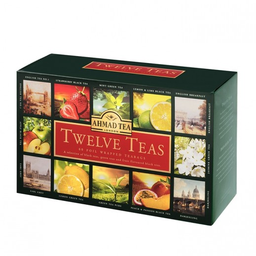 شاي أحمد - مختارات من الشاي 12×4 كيس