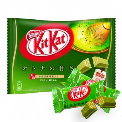 نستلة  - شوكولاتة كيت كات بطعم الشاي الأخضر 146.9 جم