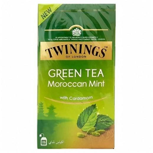 تويننجز - شاي أخضر بالنعناع والهيل 25 كيس